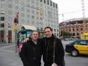 En Plaza España con Guillermo